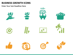 Business Growth Icons PPT slide 14