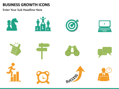 Business Growth Icons PPT slide 15