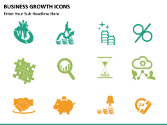 Business Growth Icons PPT slide 16