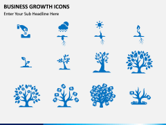 Business Growth Icons PPT slide 1