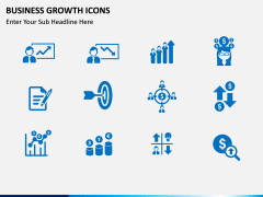 Business Growth Icons PPT slide 3