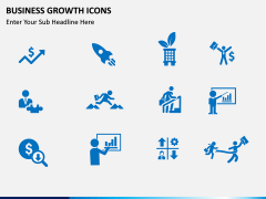Business Growth Icons PPT slide 5