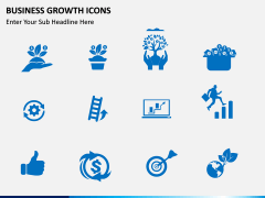 Business Growth Icons PPT slide 6