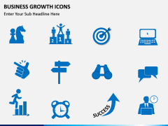 Business Growth Icons PPT slide 7