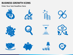 Business Growth Icons PPT slide 8