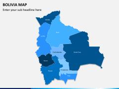 Bolivia map PPT slide 1