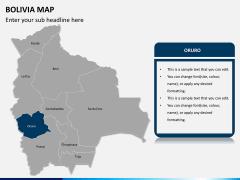 Bolivia map PPT slide 10