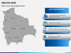 Bolivia map PPT slide 12