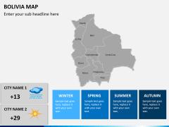 Bolivia map PPT slide 15