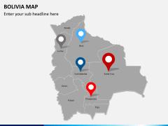 Bolivia map PPT slide 5
