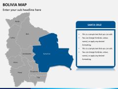 Bolivia map PPT slide 9
