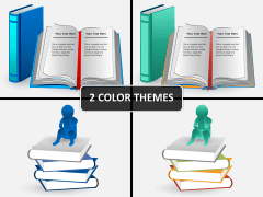 Books and paper PPT cover slide