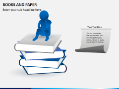 Books and paper PPT slide 1