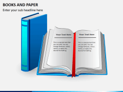 Books and paper PPT slide 2