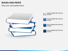 Books and paper PPT slide 3