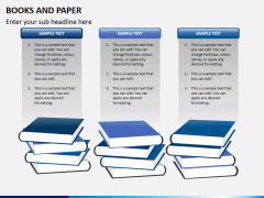 Books and paper PPT slide 4