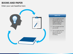 Books and paper PPT slide 5