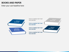 Books and paper PPT slide 6