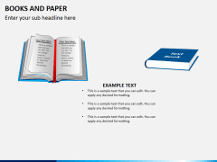 Books and paper PPT slide 9