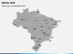 Brazil map PPT slide 1