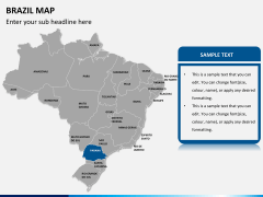 Brazil map PPT slide 10