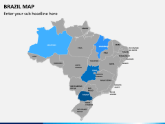 Brazil map PPT slide 2