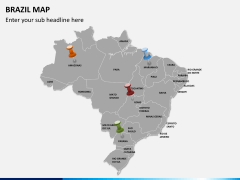 Brazil map PPT slide 3