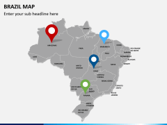 Brazil map PPT slide 4