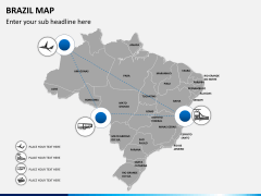 Brazil map PPT slide 5