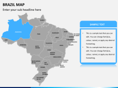Brazil map PPT slide 7
