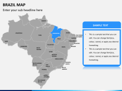 Brazil map PPT slide 8