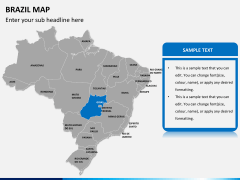 Brazil map PPT slide 9