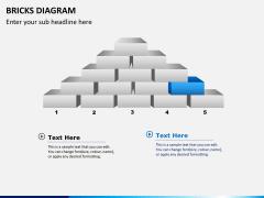 Bricks diagram PPT slide 1