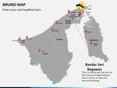 Brunei Map PPT slide 17