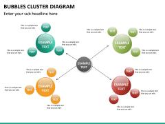 Bubbles cluster diagram PPT slide 25
