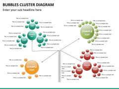 Bubbles cluster diagram PPT slide 26