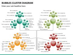 Bubbles cluster diagram PPT slide 27
