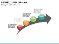 Bubbles cluster diagram PPT slide 30