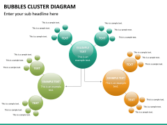 Bubbles cluster diagram PPT slide 17
