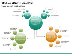 Bubbles cluster diagram PPT slide 18