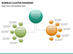 Bubbles cluster diagram PPT slide 19
