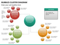 Bubbles cluster diagram PPT slide 22