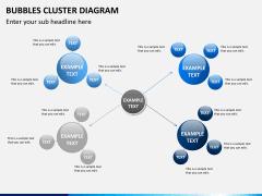 Bubbles cluster diagram PPT slide 10
