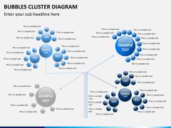 Bubbles cluster diagram PPT slide 11