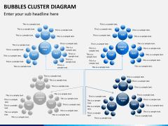 Bubbles cluster diagram PPT slide 12