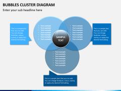 Bubbles cluster diagram PPT slide 13