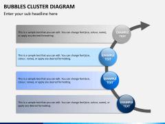 Bubbles cluster diagram PPT slide 14