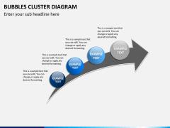 Bubbles cluster diagram PPT slide 15