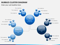 Bubbles cluster diagram PPT slide 2