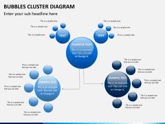 Bubbles cluster diagram PPT slide 3